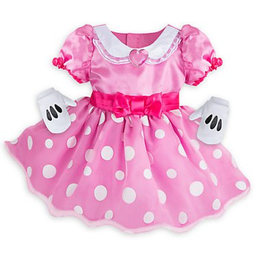 Size: 3-6 Months #Minnie36 Disney Store Minnie Mouse Deluxe Baby Costume