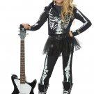 Size: Small #00635 Punk Gothic Skeleton Rocker Child Costume
