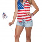 Size: Small/Medium #60687 Patriot Lady Miss Independence American Flag Adult Costume
