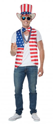 Size: Large/X-Large #60689 Uncle Sam USA Patriot Man American Flag Adult Costume