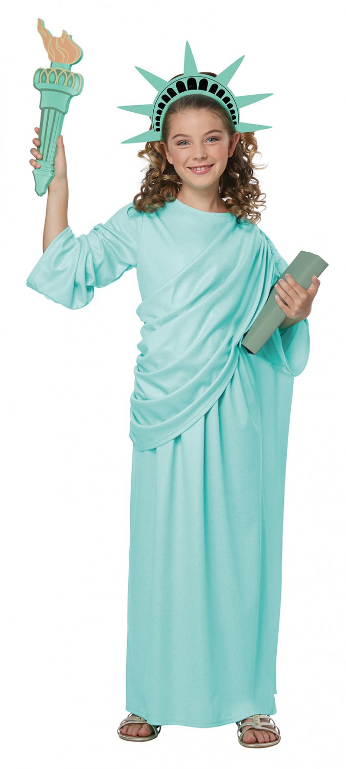 Patriotic Statue of Liberty American USA Child Costume Size: Large #00616