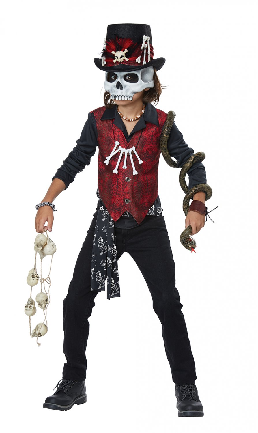 Size: Large #00614 Witch Doctor Voodoo Hex Skeleton Rocker Child Costume
