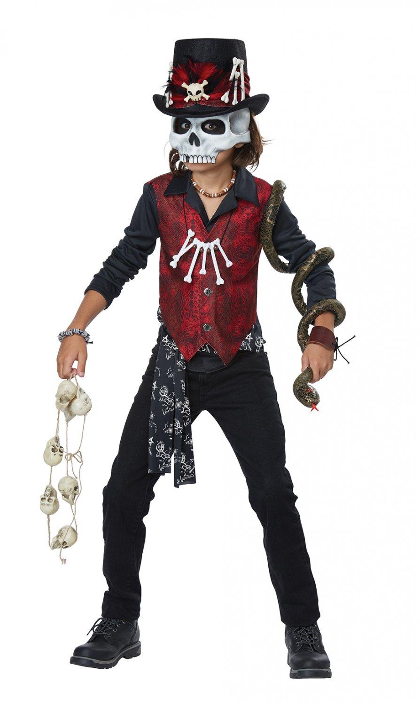 Size: X-Large #00614 Voodoo Hex Doctor Skeleton Rocker Child Costume