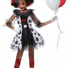 Size: Large #00586 Circus Circus Gothic Creepy Clown Girl Child Costume