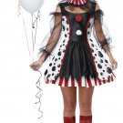 Size: Large  #01435 Sexy Circus Twisted Clown Adult Costume