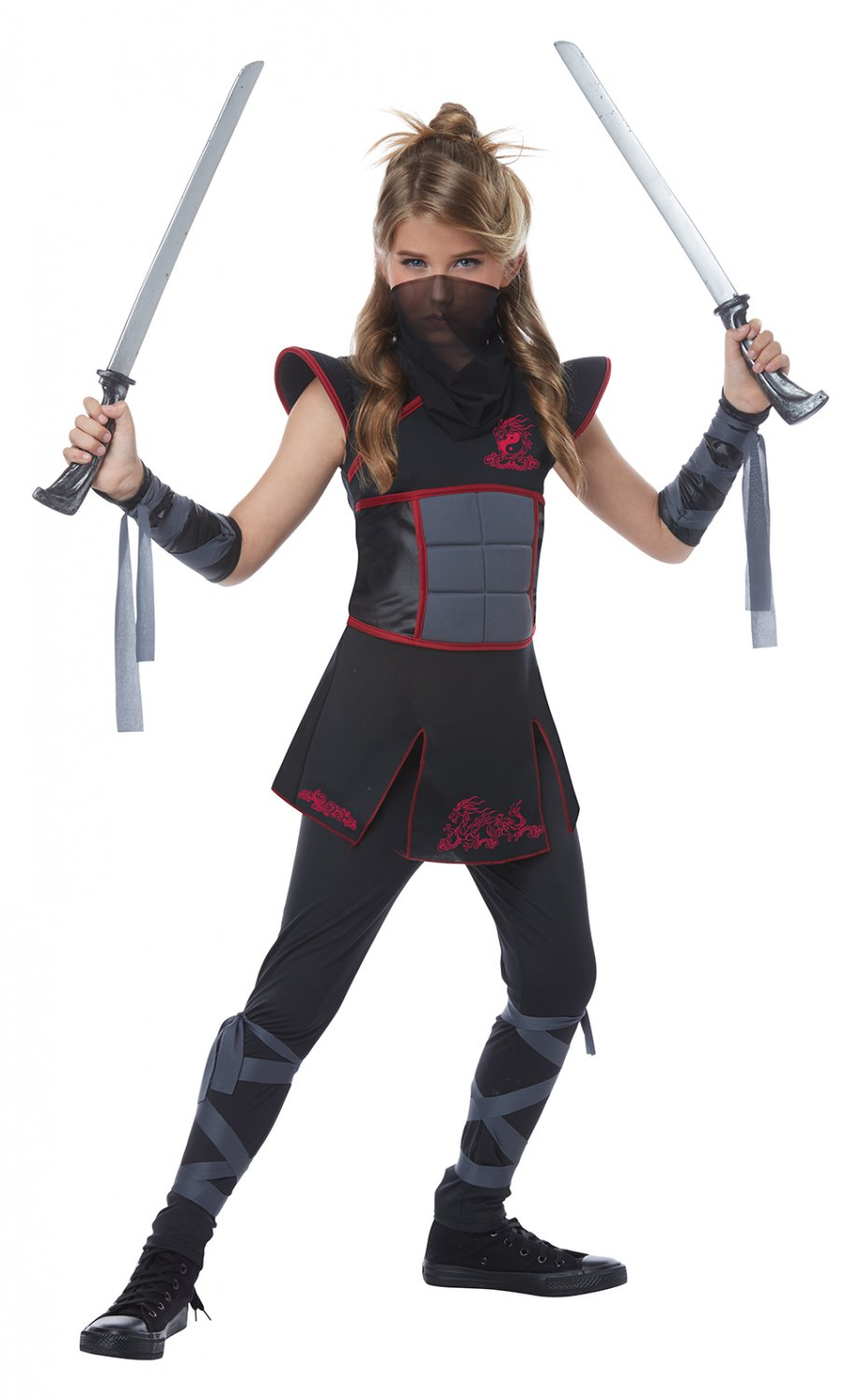 Size: Large #00568 Samurai Warrior Stealth Fearless Ninja Girl Child Costume