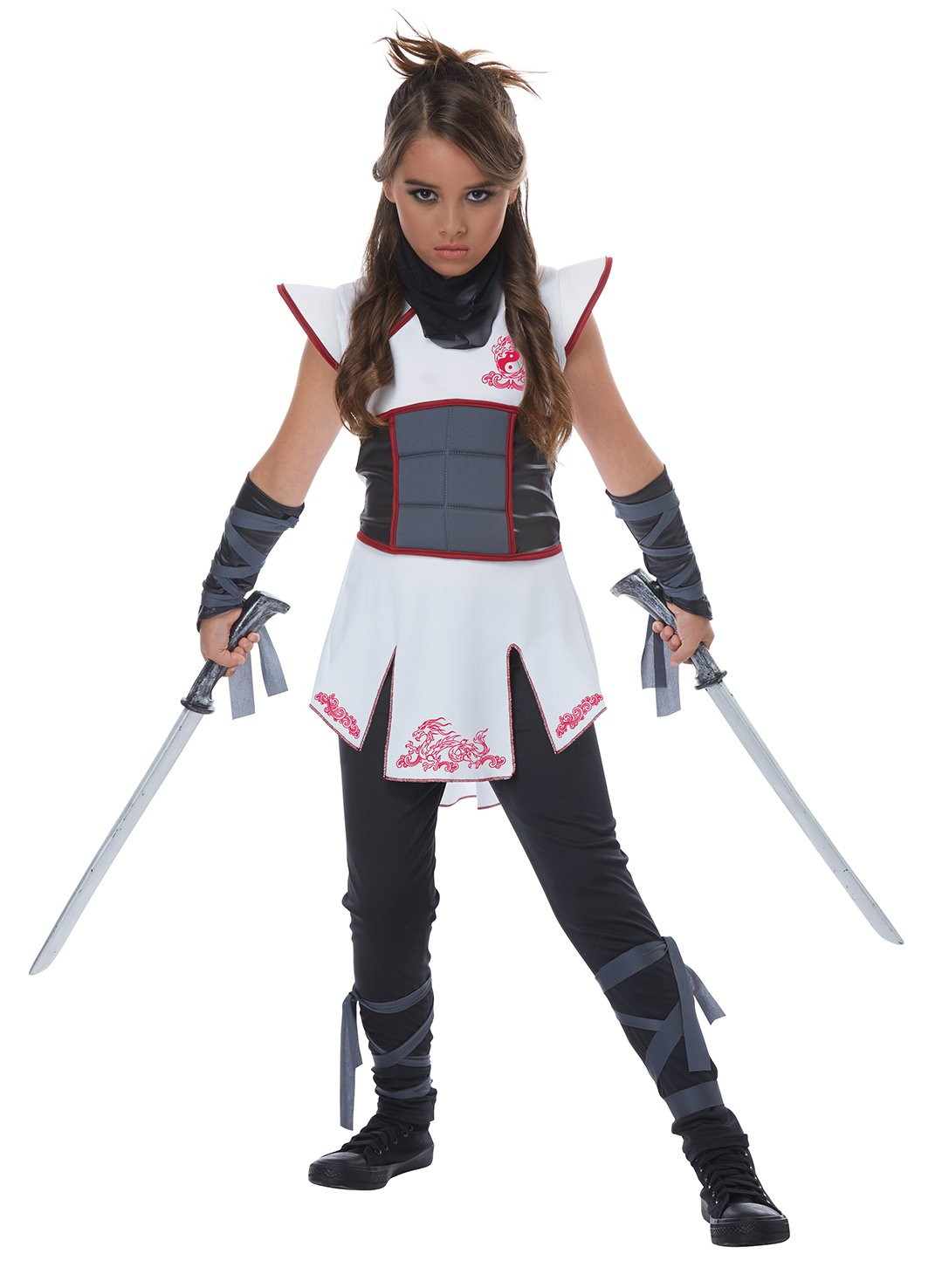 Size: Large #00567 Stealth Warrior Samurai Fearless Ninja Girl Child Costume
