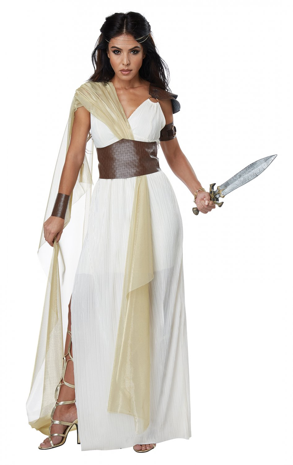 Size: Small #01446 Greek Goddess Spartan Warrior Queen Adult Costume