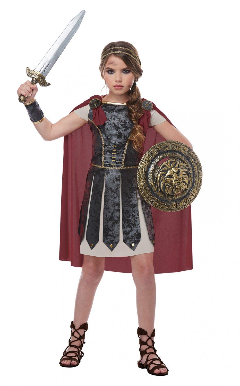 Size: Small #00576 Fearless Gladiator Centurion Spartan Warrior Girl Child Costume