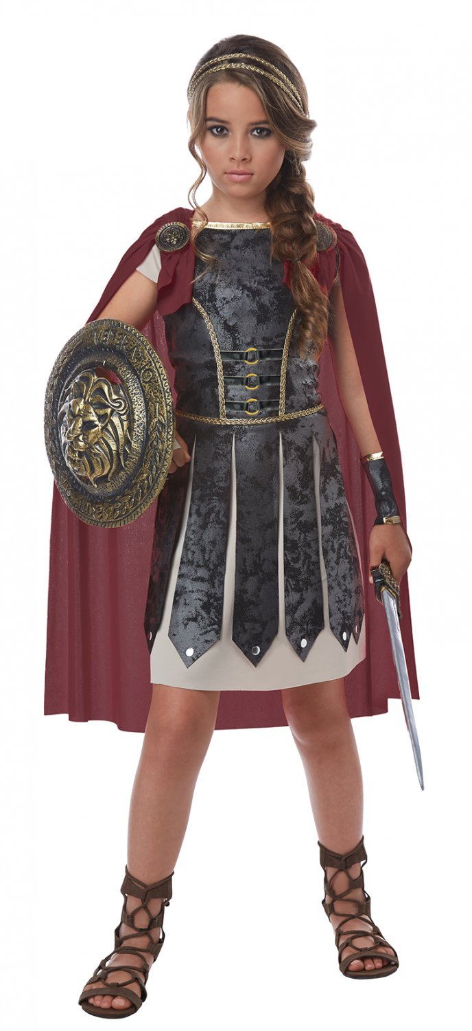 Size: Medium #00576  Trojan Fearless Gladiator Centurion Spartan Warrior Girl Child Costume