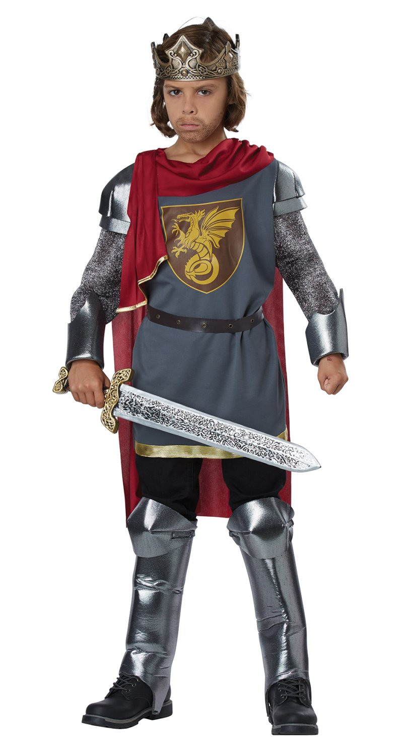 Size: Small/Medium #00630 Medieval Knight King Arthur Child Costume