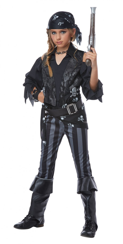Size: Medium #00569 Rebel Pirate Buccaneers Raider Girl Child Costume