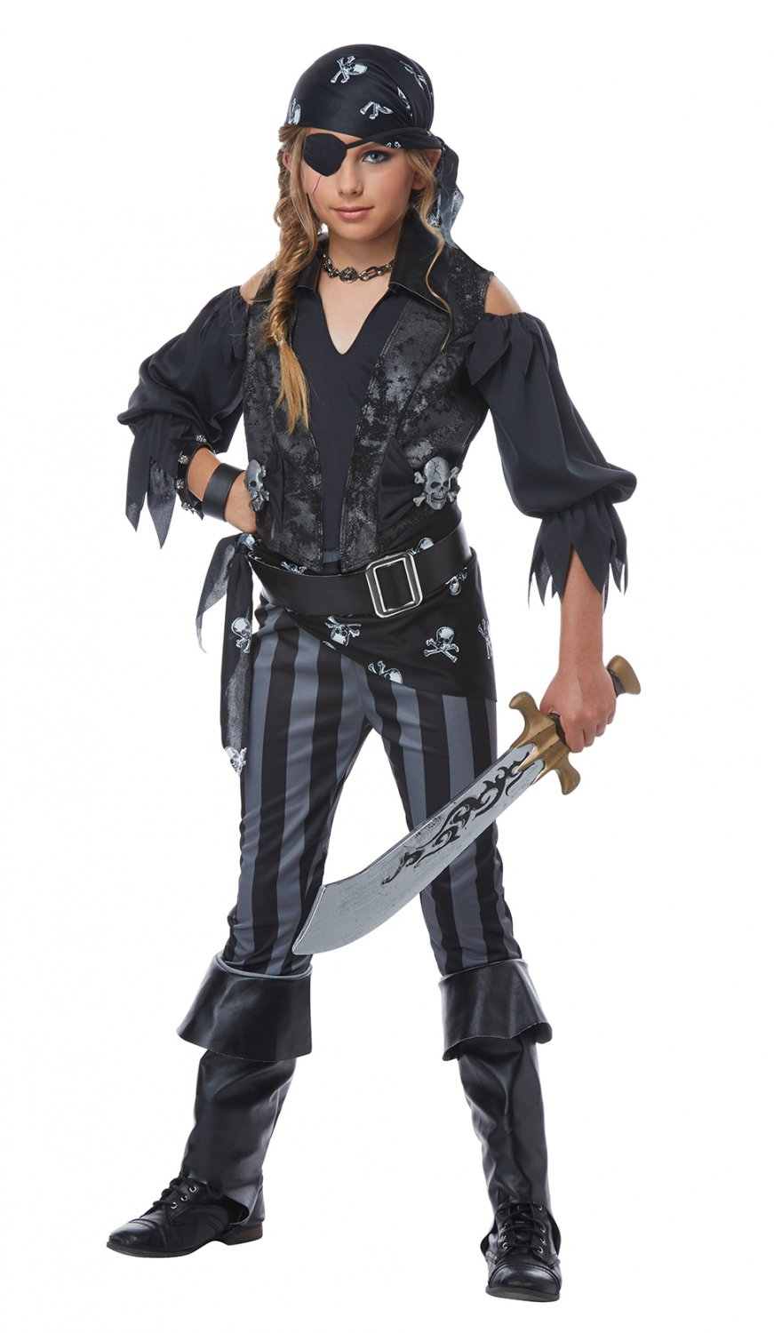 Size: Large #00569 Buccaneers Rebel Pirate Raider Girl Child Costume