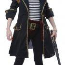 Size: Medium #00583 Pirates of the Caribbean High Seas Captain Buccaneers Girl Child Costume