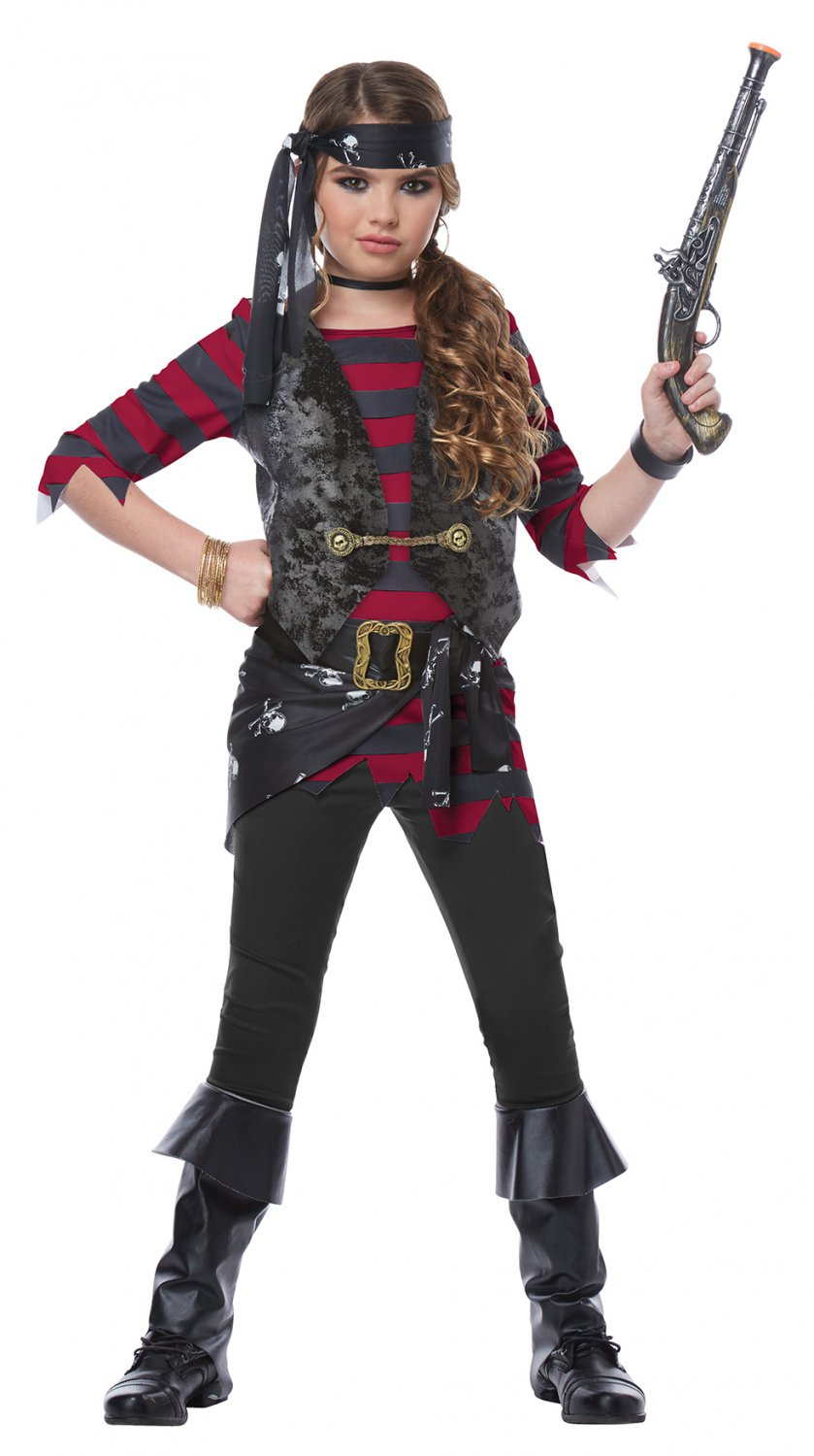 Size: X-Large #00577  Buccaneers Renegade Pirate of the Caribbean Raider  Girl Child Costume