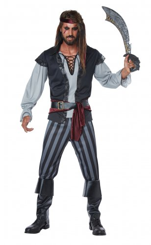 Size: X-Large # 01443 Raider Buccaneers Scallywag Pirate Captain Hook Adult Costume