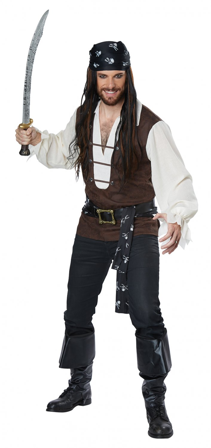 Size: Small # 01456 High Seas Adventurer Pirate Raider Buccaneers Adult Costume