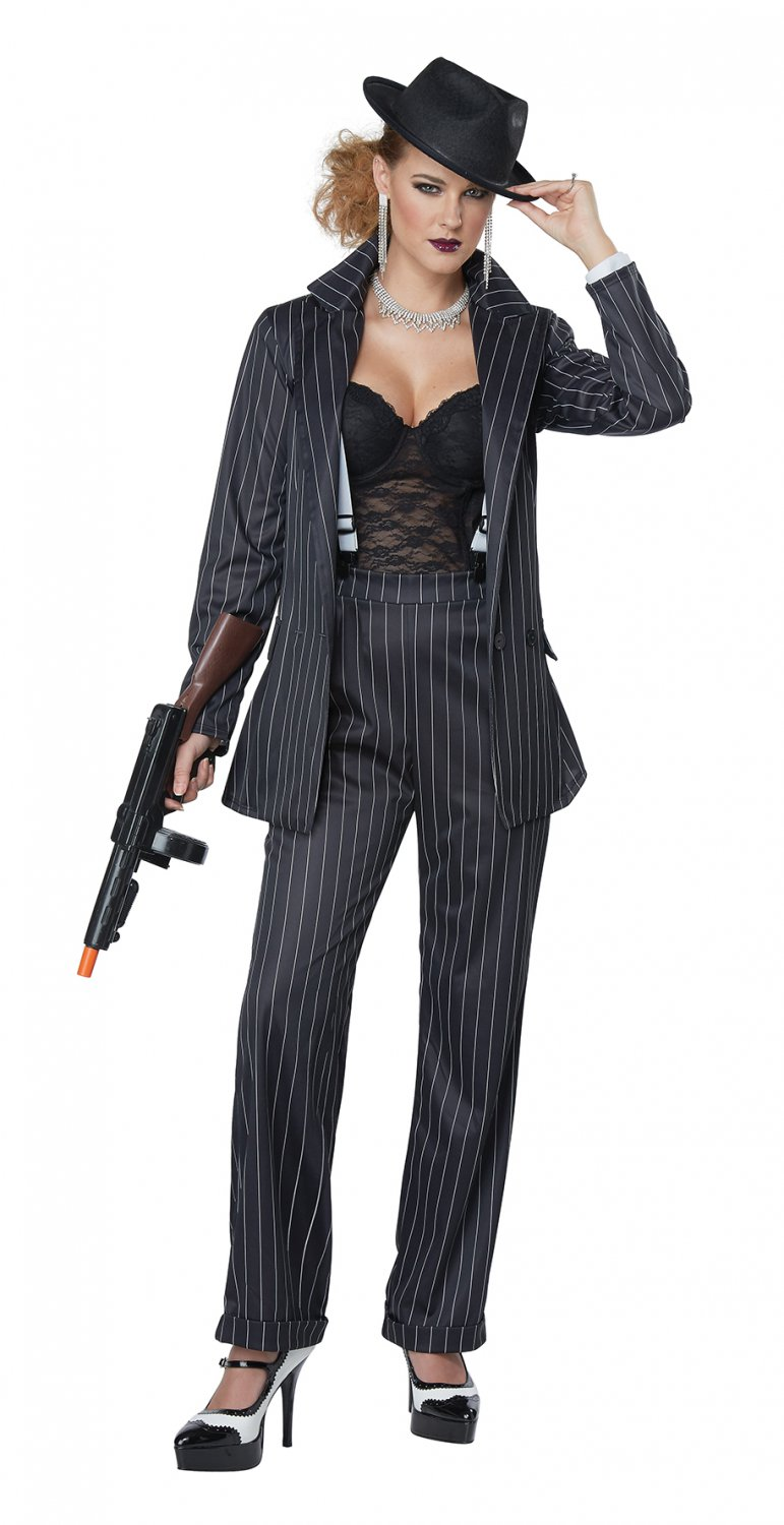 Size: Medium #01447  Sexy 1920's Ms. Mobster Gangster Mafia Adult Costume