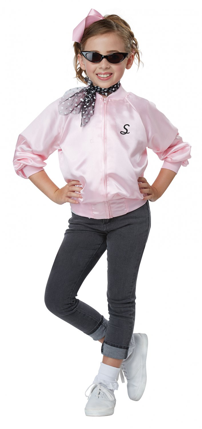 Size: Small #00617  Sandy Grease 50's Satin Varsity Jacket Child Costume