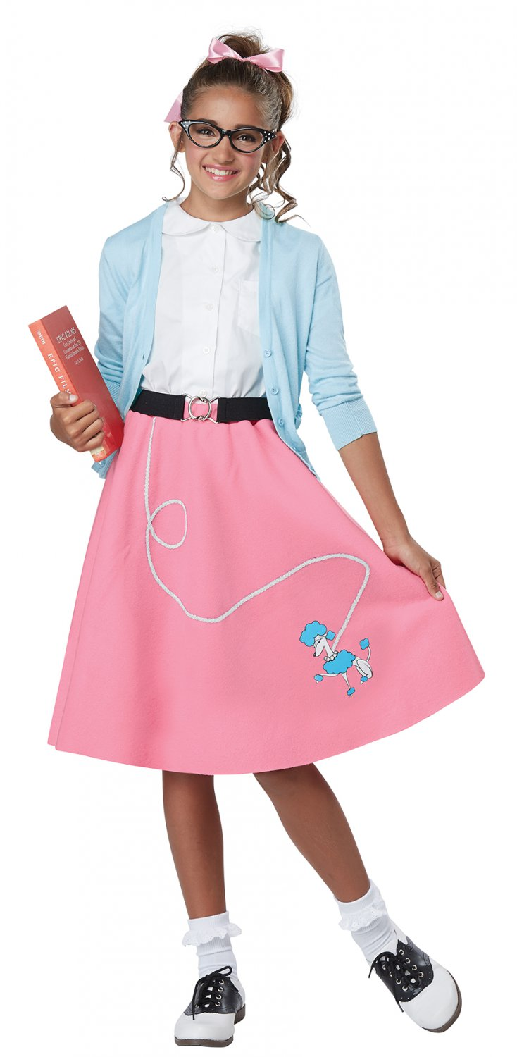 Size: Small/Medium #00628 Grease 50's Poodle Skirt Child Costume