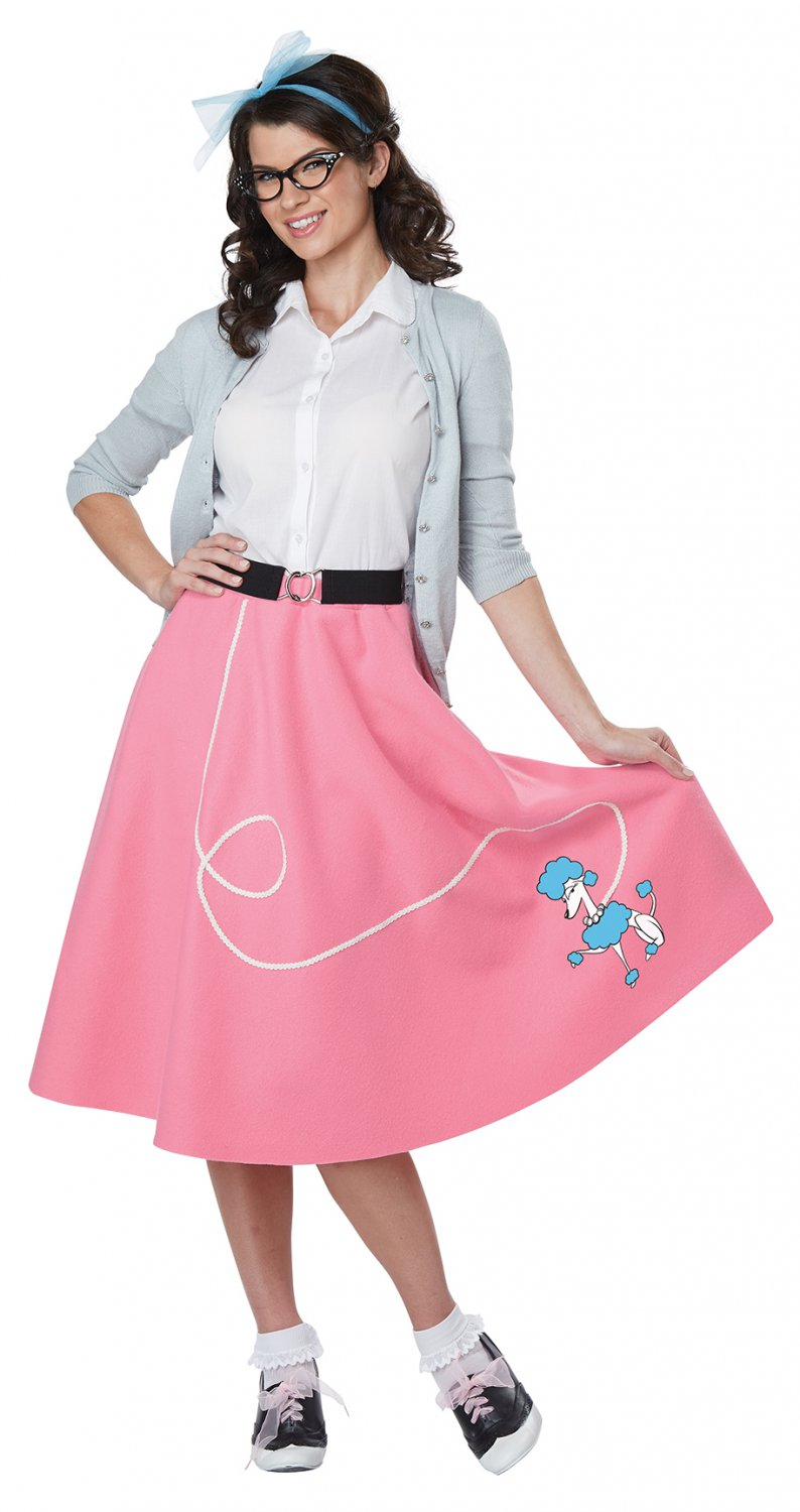 Size: Small/Medium #01466 Grease 50's Poodle Skirt Sandy Adult Costume