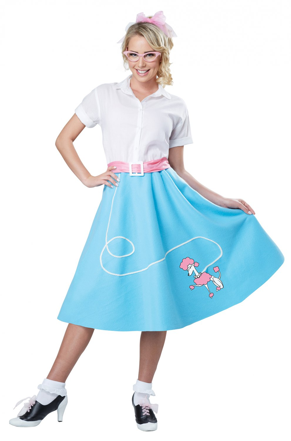 Size: Large/X-Large #01467  50's Poodle Skirt Grease Sandy Adult Costume