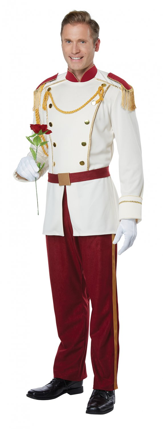 Size: Small # 1444 Disney Royal Storybook Prince Adult Costume
