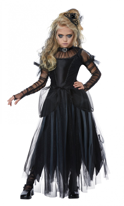 Size: Medium #00585 Gothic Doll Dark Princess Child Costume