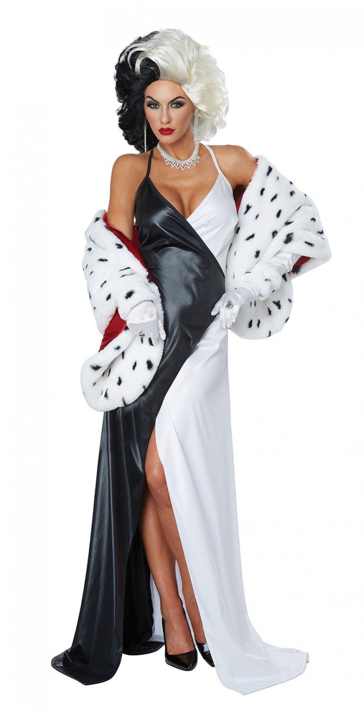 Size: Large #01458 Dalmatian Cruella de Vil Sexy Adult Costume