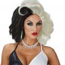 #70882 Cruella De Vil 101 Dalmatian Cruel Diva Costume Accessory Wig