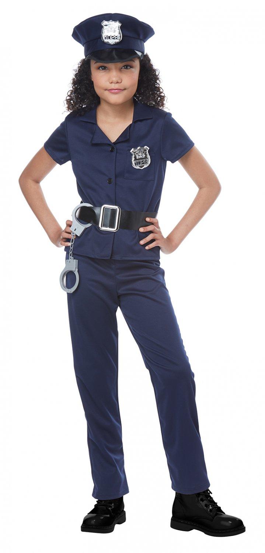 Size: Medium #00545 Cute Cop Sheriff Deputy Police Officer Child Costume