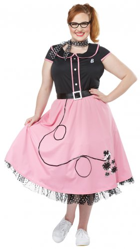 Plus Size: 2X-Large  #01769 Grease 50's Sweetheart Poodle Adult Costume