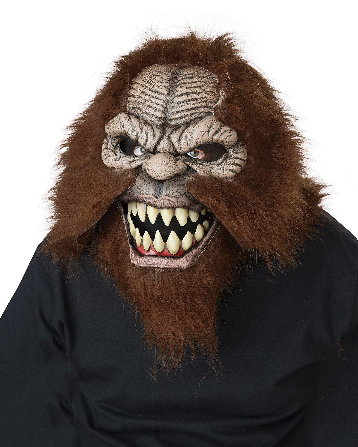Standard Size: #60706 Bigfoot Sasquatch Adult Costume Ani-Motion Mask