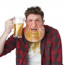 Standard Size: #60638 Cheers Ralph Beer Acne Fat Adult Costume Mask