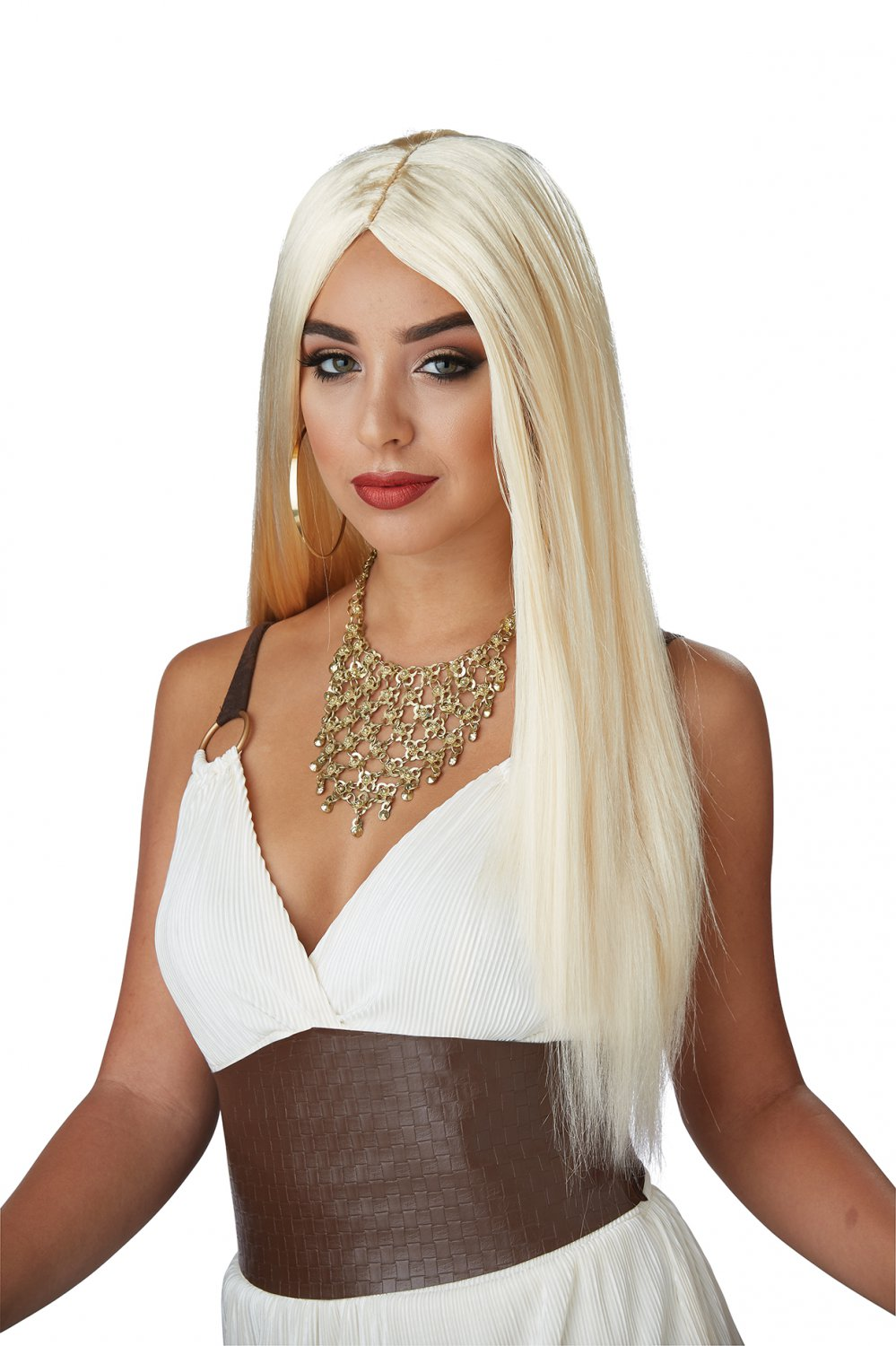 #70876 Spartan Greek Demigoddess Queen Blonde Costume Accessory Wig