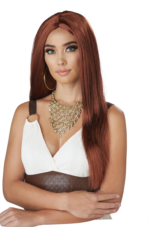 #70877 Sexy Spartan Greek Demigoddess Queen Auburn Costume Accessory Wig