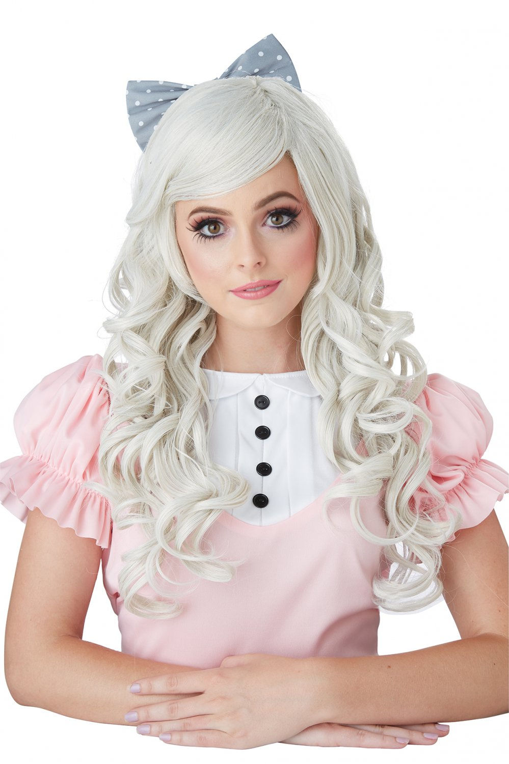 #70870 Sexy Kitty Cat Japanese Cosplay Doll Ash Blonde Costume Accessory Wig
