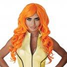 #70871   Sexy Marvel Pop Art Superhero Orange Costume Accessory Wig