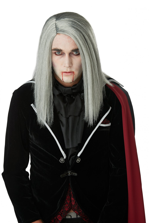 #70901 Dark Wizard Sleek Vampire Gothic Costume Accessory  Wig