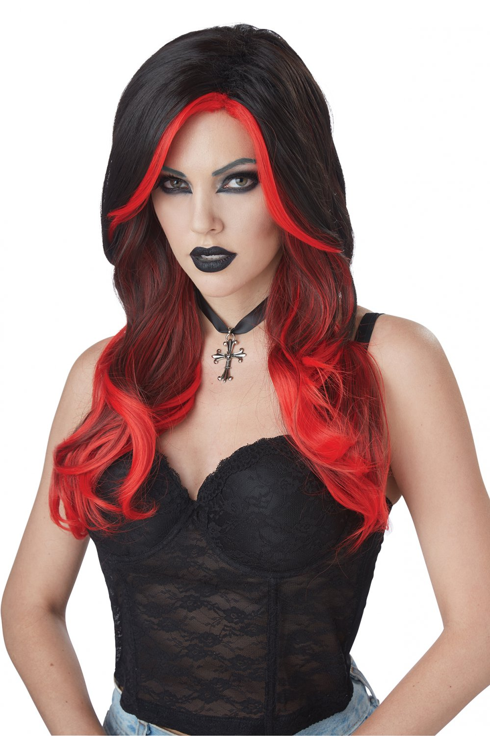 #70883  Victorian Renaissance Gothic Fatal Beauty Vampire Costume Accessory Wig