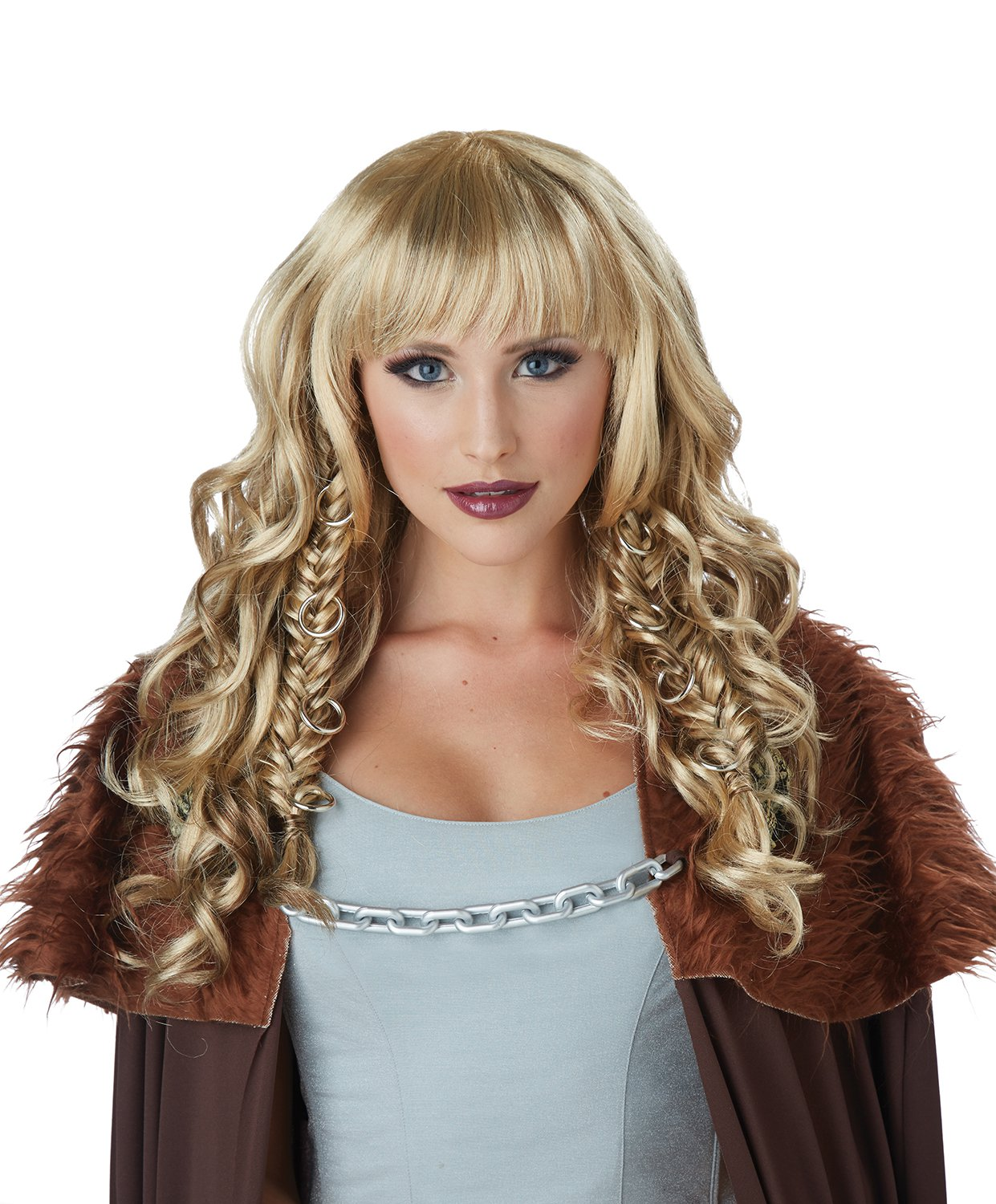 #70881  Renaissance Medieval Times Viking Warrior Queen Costume Accessory Wig