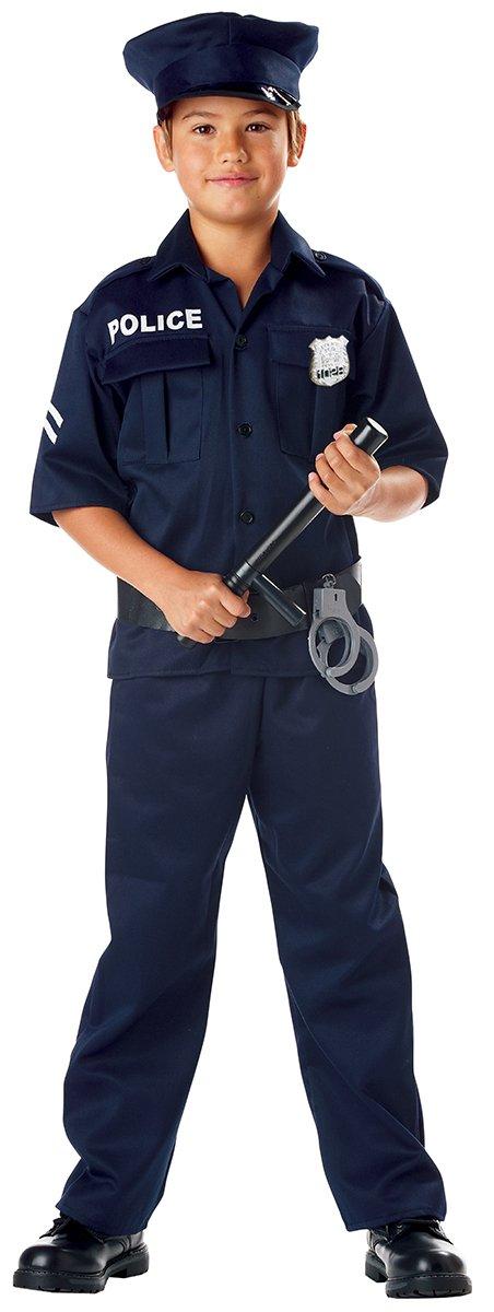 Size: X-Large #00343 Police Officer Cop Sheriff FBI Jailer Child Costume
