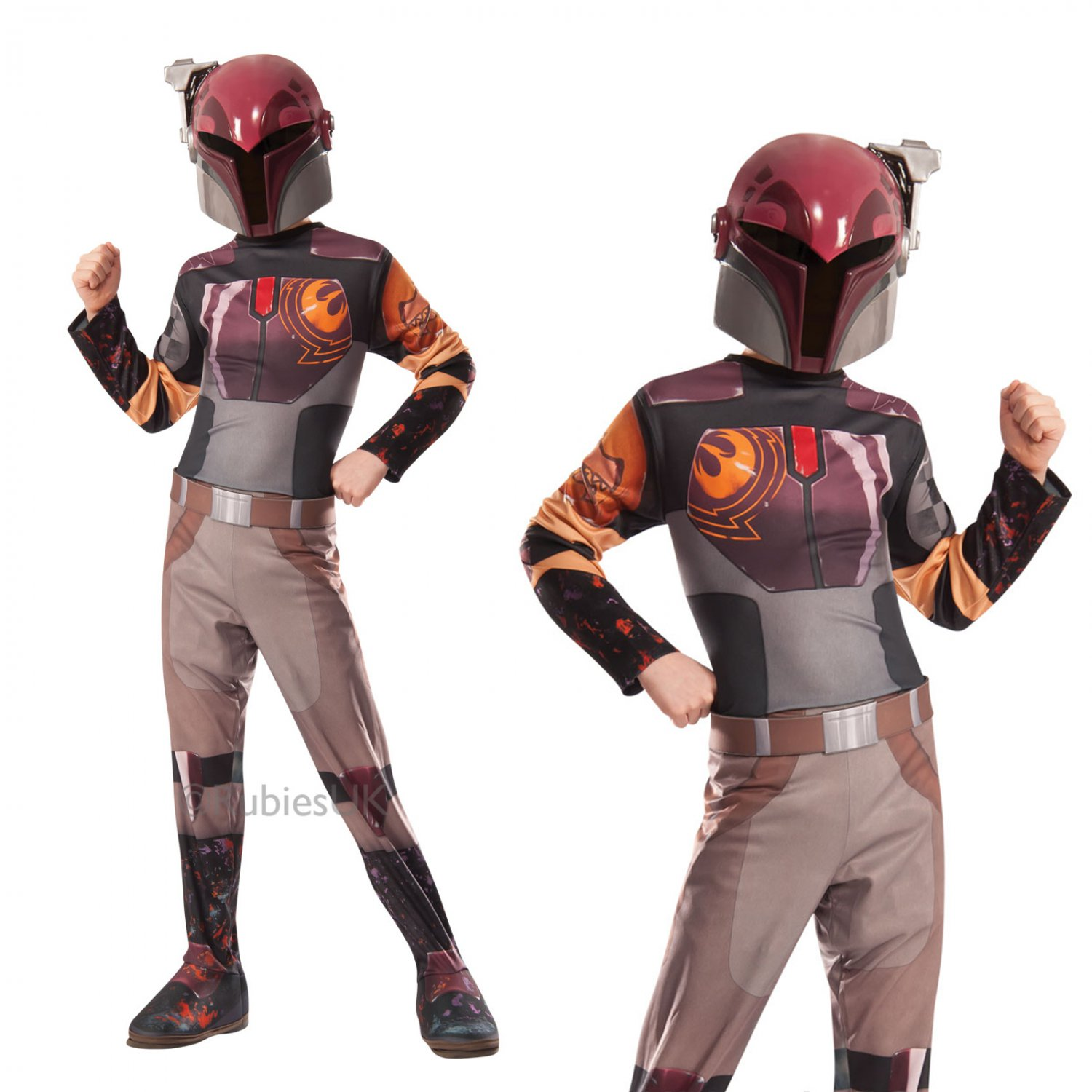 Size: Small #884875S Disney Star Wars Rebels Sabine Rubies Child Costume
