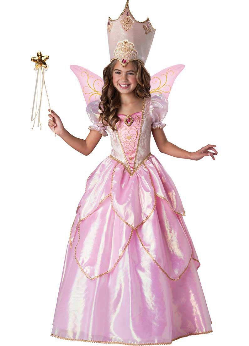 Size: Small #7044X   Disney Fairy Godmother Super Deluxe Child  Incharacter Costume