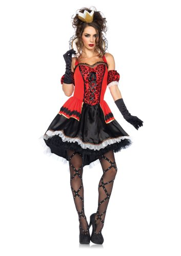 Size: Small #85373S  Alice In Wonderland Royally Sexy Queen Leg Avenue Adult Costume