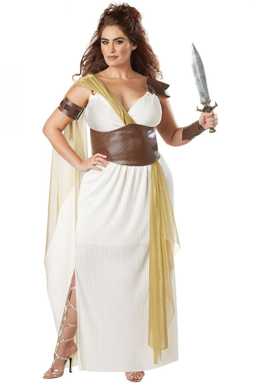 Plus Size: 1X-Large #01776 Spartan Warrior Queen 300 Greek Goddess Adult Costume