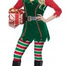 Size: Large #01493  Santa Claus Christmas Festive Elf Workshop Adult Costume