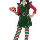 Size: Large #00604  Festive Elf Christmas Santa Claus Workshop Child Costume