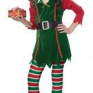 Size: Medium #00604 X-mas Festive Elf Santa Claus Workshop Child Costume