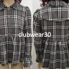 Beautiful New Plaid Baby Doll Jacket by nori- Medium